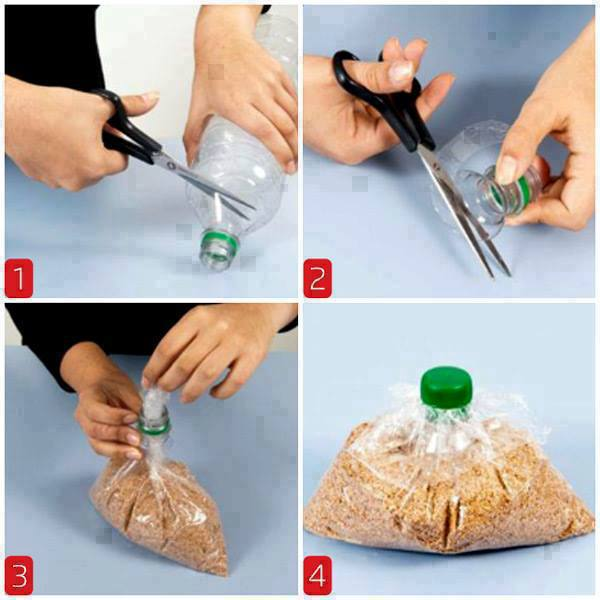 Reciclar botellas de plástico para conservar alimentos