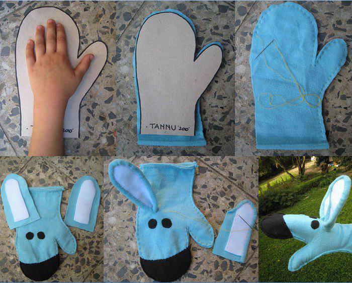 Marioneta de tela reciclada