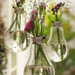 macetas reciclando bombillas